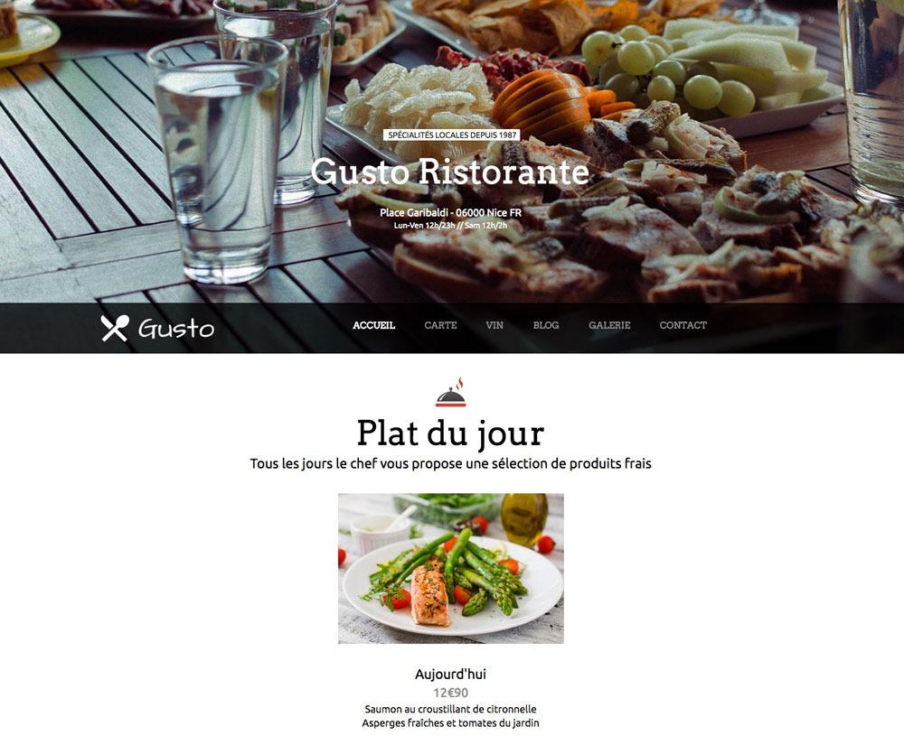 iPaoo vous propose des graphiques entièrement personnalisables pour le site de votre restaurant