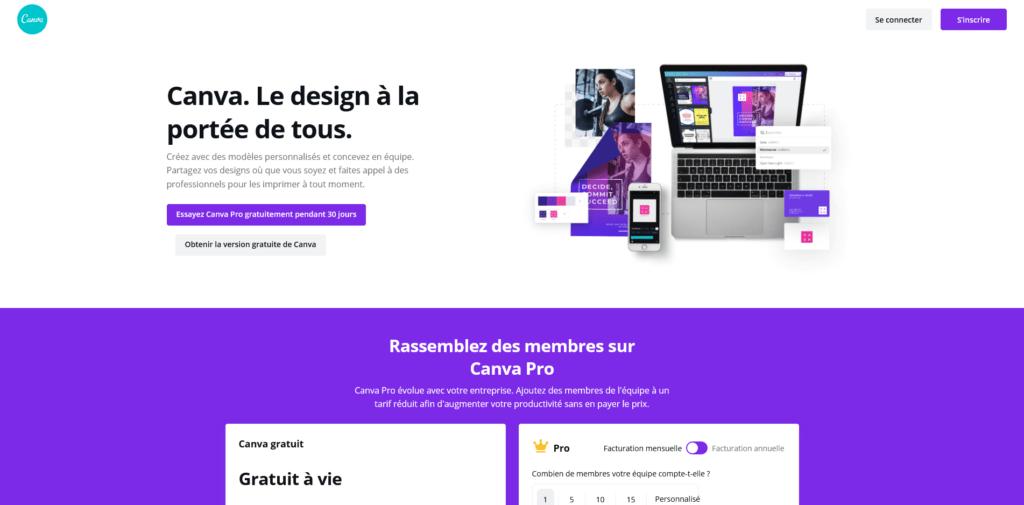 Canva, outil de design graphique en ligne