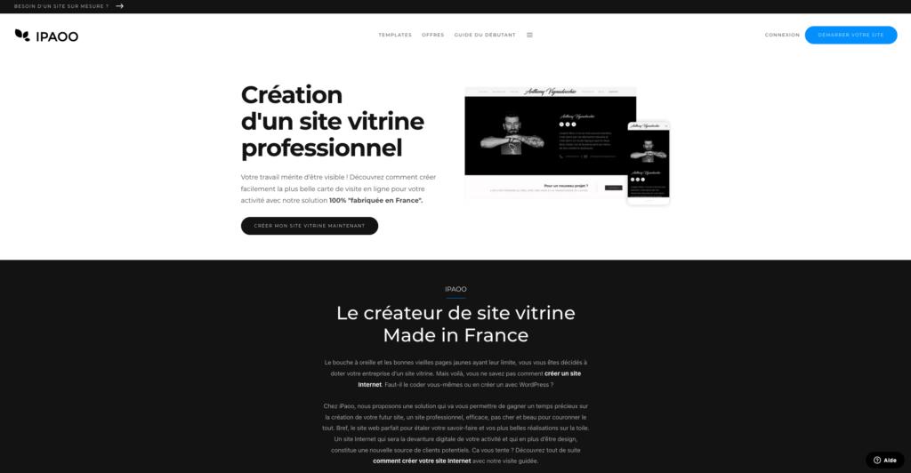 Créer un site vitrine professionnel avec IPAOO